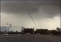 Waterspout in Key West, Florida, 1983 (by: Michael Laca)